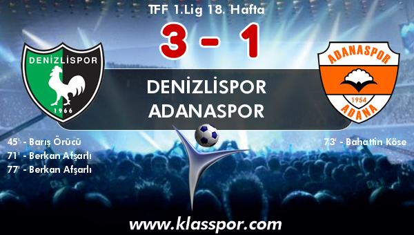 Denizlispor 3 - Adanaspor 1