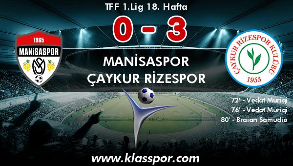 Manisaspor 0 - Çaykur Rizespor 3