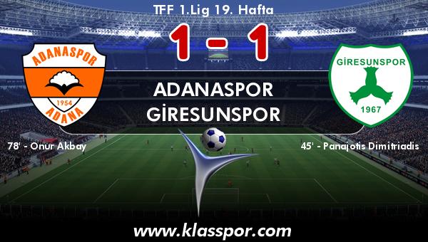 Adanaspor 1 - Giresunspor 1