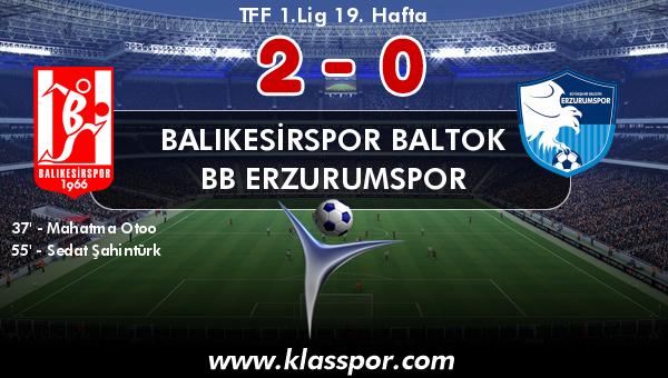 Balıkesirspor Baltok 2 - BB Erzurumspor 0