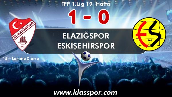Elazığspor 1 - Eskişehirspor 0