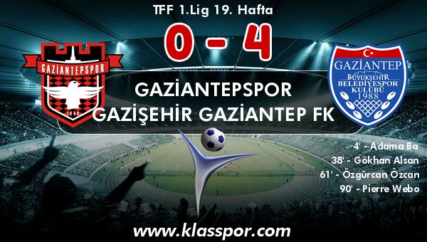 Gaziantepspor 0 - Gazişehir Gaziantep FK 4