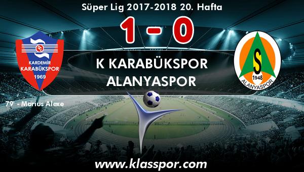 K Karabükspor 1 - Alanyaspor 0