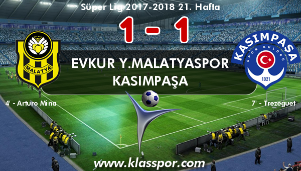 Evkur Y.Malatyaspor 1 - Kasımpaşa 1