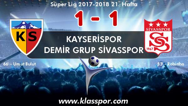 Kayserispor 1 - Demir Grup Sivasspor 1