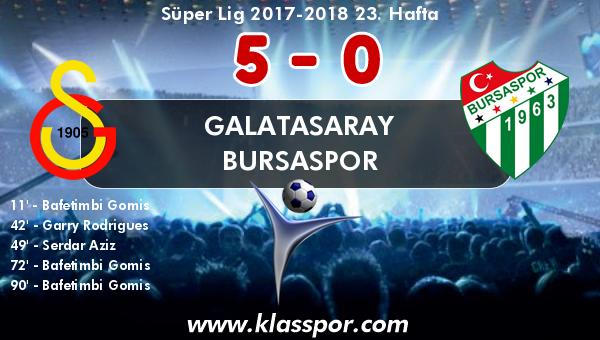 Galatasaray 5 - Bursaspor 0