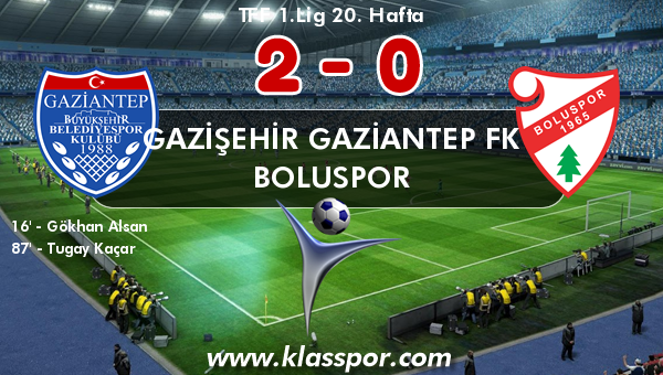Gazişehir Gaziantep FK 2 - Boluspor 0