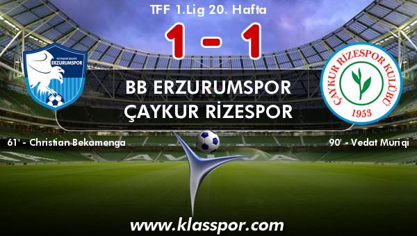 BB Erzurumspor 1 - Çaykur Rizespor 1