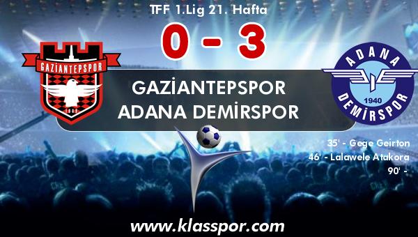 Gaziantepspor 0 - Adana Demirspor 3