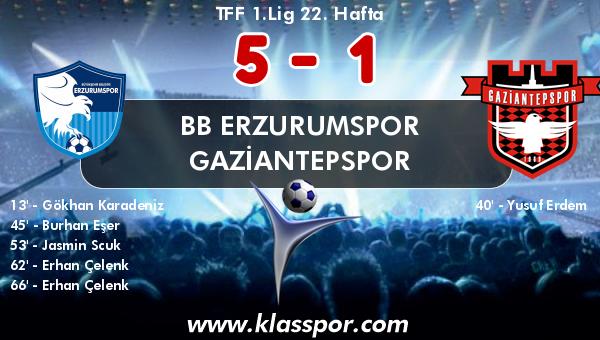 BB Erzurumspor 5 - Gaziantepspor 1