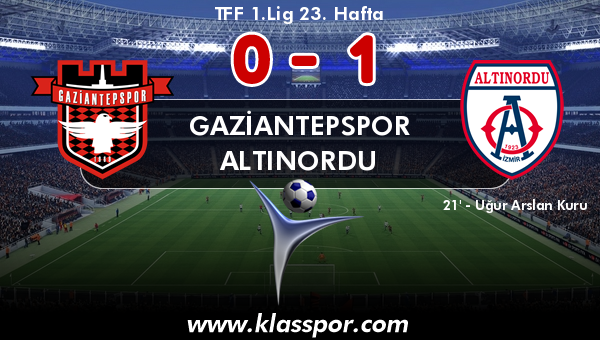 Gaziantepspor 0 - Altınordu 1