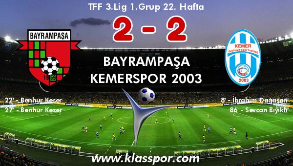 Bayrampaşa 2 - Kemerspor 2003 2