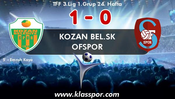 Kozan Bel.SK 1 - Ofspor 0