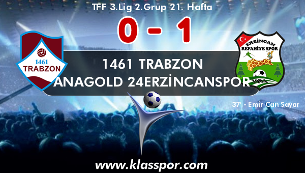 1461 Trabzon 0 - Anagold 24Erzincanspor 1