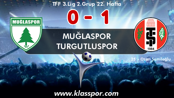 Muğlaspor 0 - Turgutluspor 1