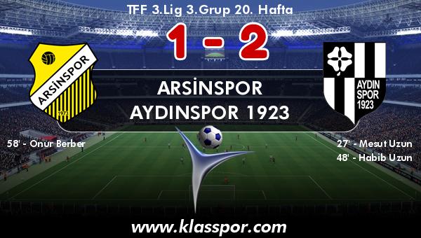 Arsinspor 1 - Aydınspor 1923 2