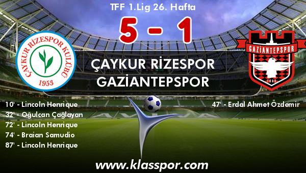 Çaykur Rizespor 5 - Gaziantepspor 1