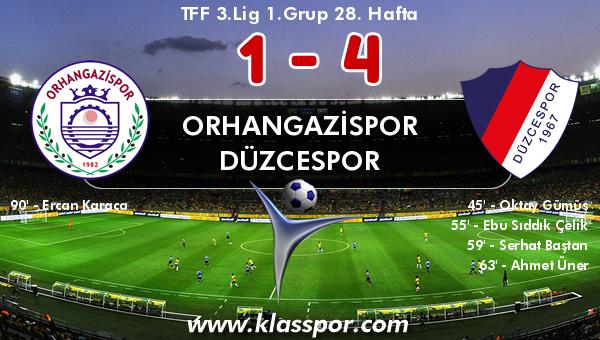 Orhangazispor 1 - Düzcespor 4