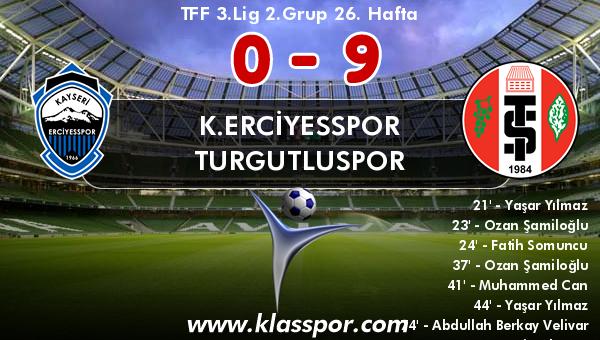 K.Erciyesspor 0 - Turgutluspor 9