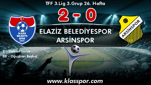 Elaziz Belediyespor 2 - Arsinspor 0