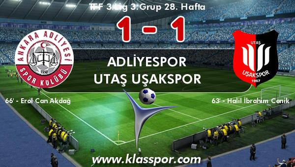 Adliyespor 1 - Utaş Uşakspor 1