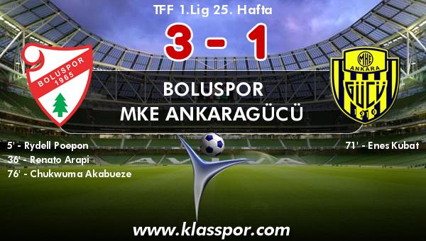 Boluspor 3 - MKE Ankaragücü 1
