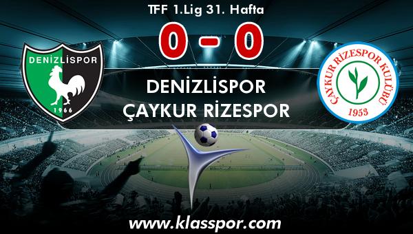 Denizlispor 0 - Çaykur Rizespor 0