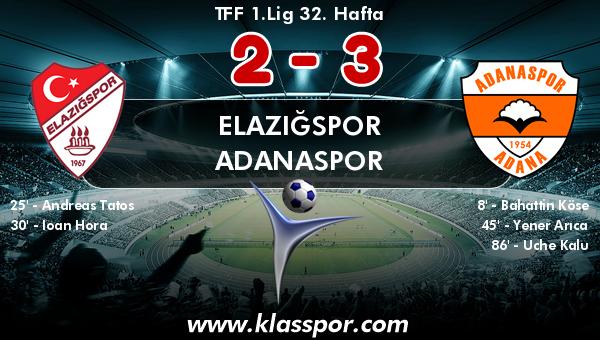 Elazığspor 2 - Adanaspor 3