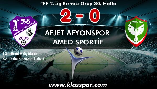 Afjet Afyonspor  2 - Amed Sportif 0