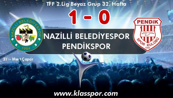Nazilli Belediyespor 1 - Pendikspor 0