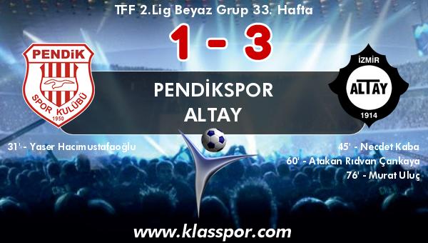 Pendikspor 1 - Altay 3