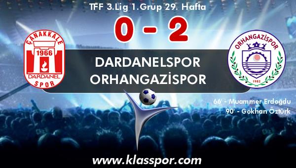 Dardanelspor 0 - Orhangazispor 2