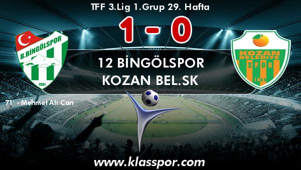 12 Bingölspor 1 - Kozan Bel.SK 0