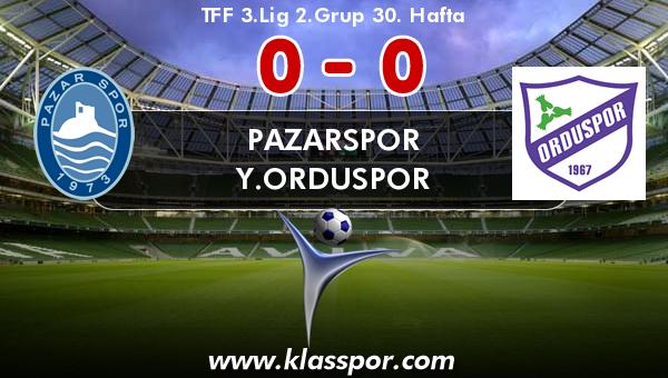 Pazarspor 0 - Y.Orduspor 0
