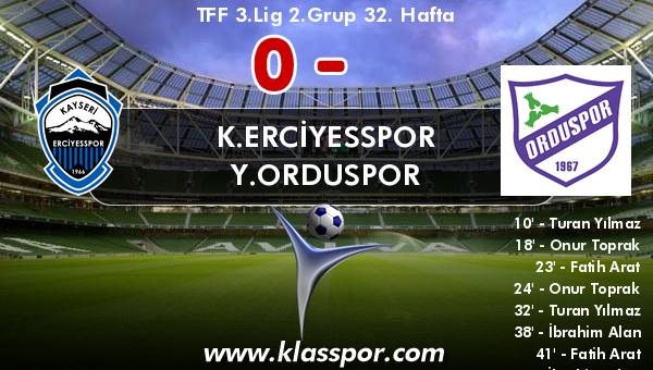 K.Erciyesspor 0 - Y.Orduspor 10