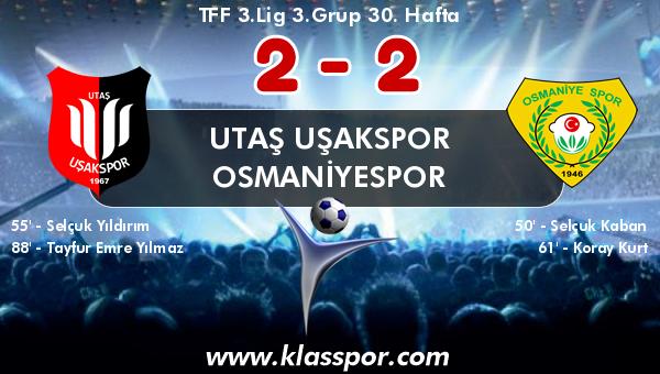 Utaş Uşakspor 2 - Osmaniyespor 2