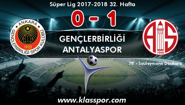 Gençlerbirliği 0 - Antalyaspor 1