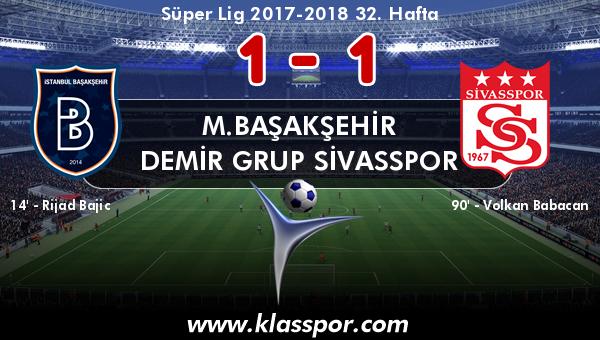 M.Başakşehir 1 - Demir Grup Sivasspor 1