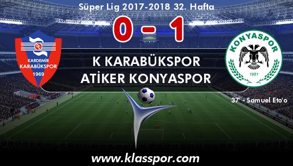 K Karabükspor 0 - Atiker Konyaspor 1
