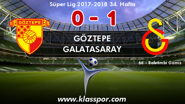 Göztepe 0 - Galatasaray 1