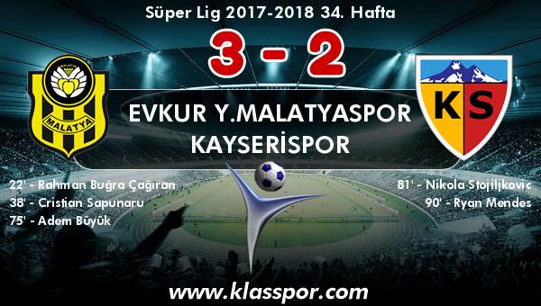 Evkur Y.Malatyaspor 3 - Kayserispor 2