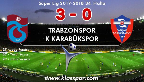 Trabzonspor 3 - K Karabükspor 0