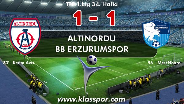 Altınordu 1 - BB Erzurumspor 1