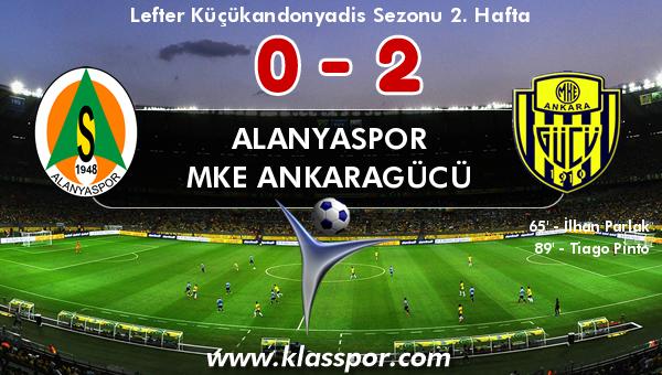 Alanyaspor 0 - MKE Ankaragücü 2