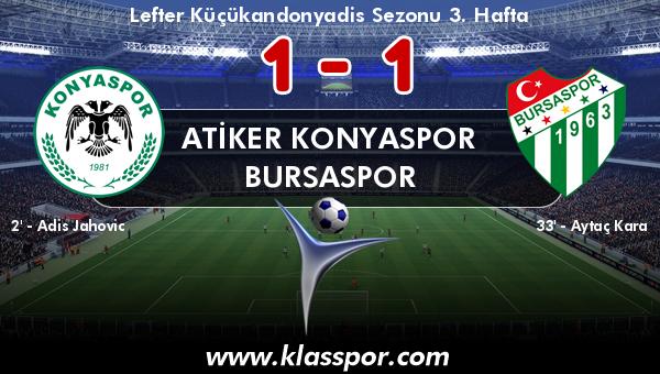 Atiker Konyaspor 1 - Bursaspor 1