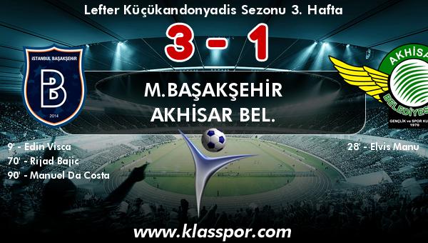 M.Başakşehir 3 - Akhisar Bel. 1