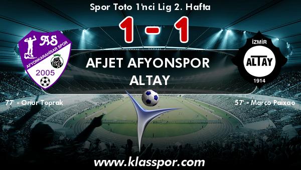 Afjet Afyonspor  1 - Altay 1