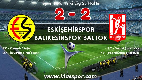 Eskişehirspor 2 - Balıkesirspor Baltok 2