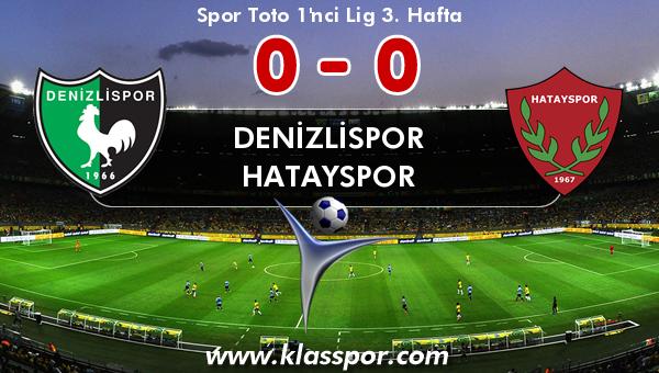 Denizlispor 0 - Hatayspor 0