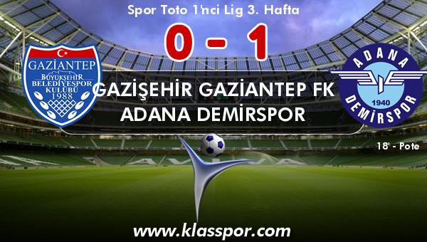Gazişehir Gaziantep FK 0 - Adana Demirspor 1